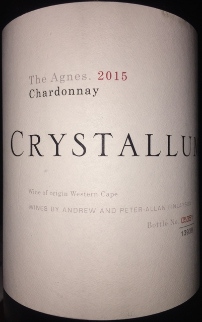 Crystallum Chardonnay The Agnes 2015