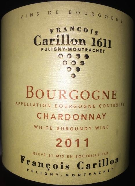 Bourgogne Chardonnay Francois Carillon 2011