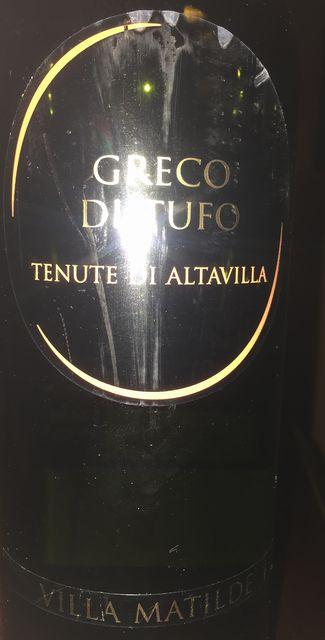 Greco di Tufo Tenute di Altavilla Villa Matilde 2014 part1