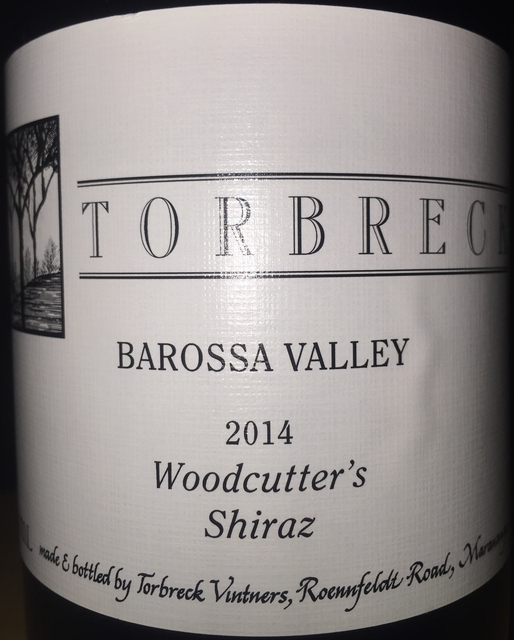 Woodcutters Shiraz Torbreck Barossa Valley 2014