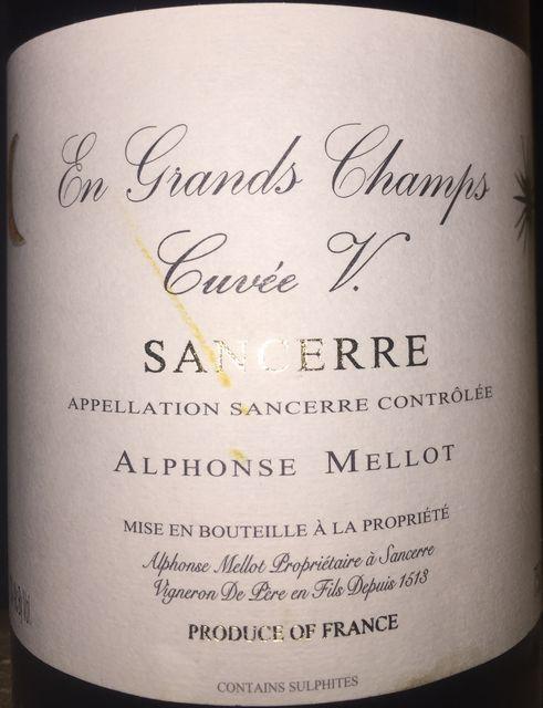 Sancerre En Grands Champs Cuvee V Alphonse Mellot 2014 part1