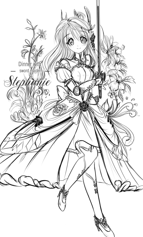 Sword Maiden - Stephanie Portrait