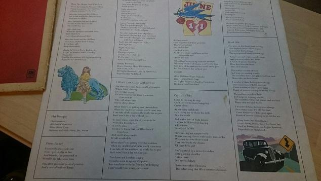 1972カーペンターズ歌詞表