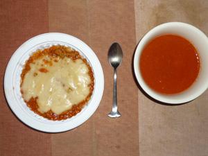 チキンドリア,野菜スープ