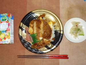 カツ丼(ミニ),野菜ジュース,白菜の漬物