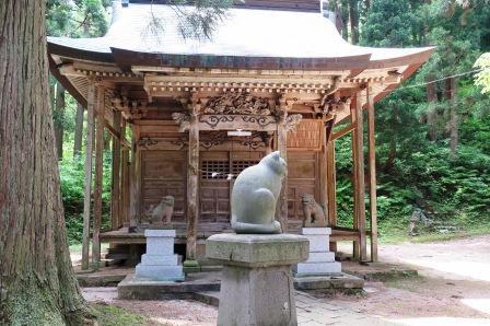 南部神社と狛猫160606