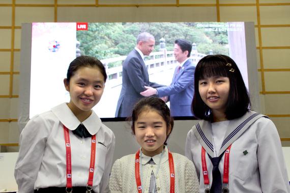 三重県 伊勢志摩サミット 女子中学生 中3 セーラー服