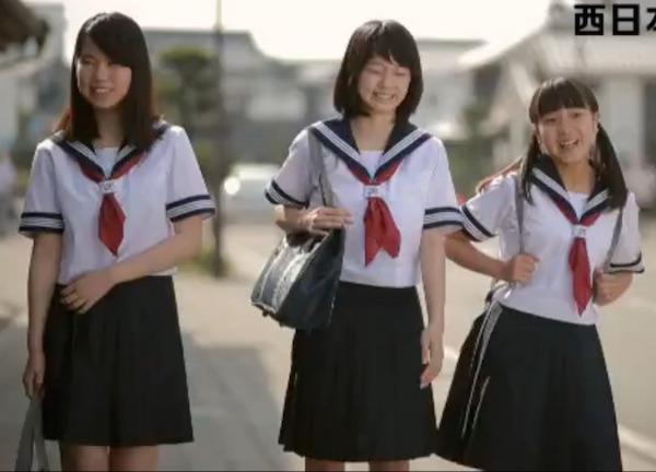 NTT西 日本夏セーラー服 少女3体