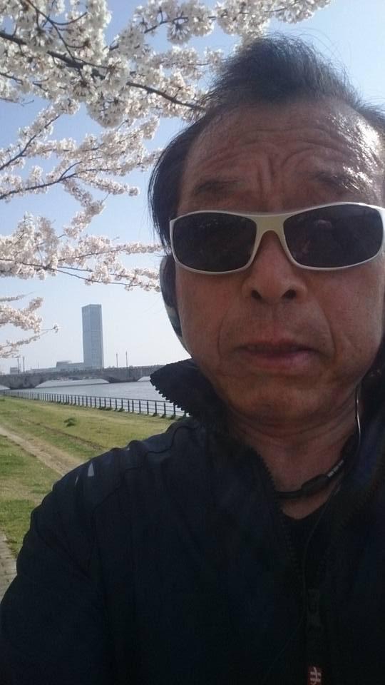 【桜が満開のやすらぎ堤を一時間ジョギング】-2