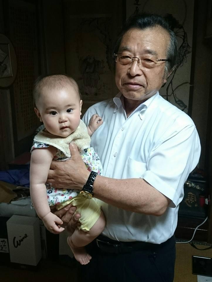 【父の日に孫と】