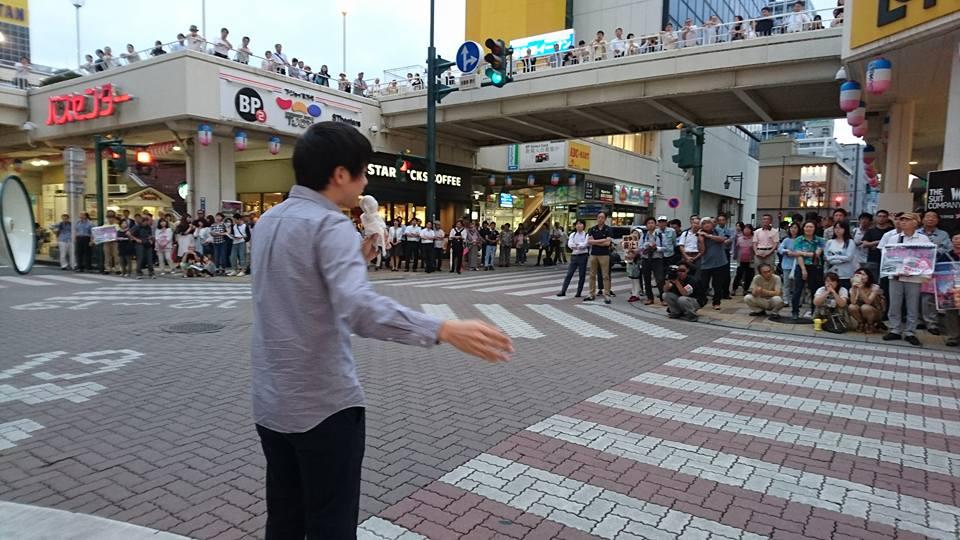 【ラブラ万代・森ゆう子個人演説会】-2