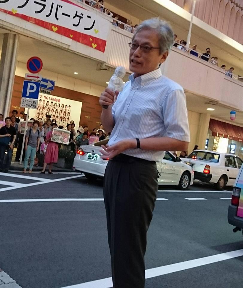 【ラブラ万代・森ゆう子個人演説会】-3