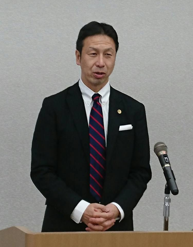 【社民党会議に米山隆一氏挨拶】-1