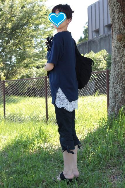裾レース トップス (4)