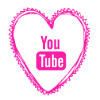 Free you tube pink heart social media icon