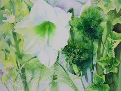 amaryllis and green dia