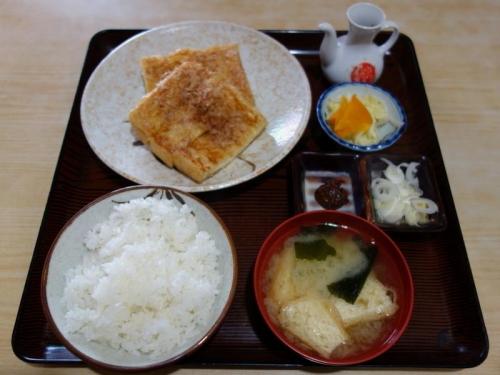 栃尾油揚げ焼定食