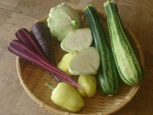 変わった野菜断面