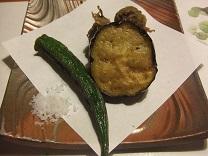 シラスのつみれと野菜の揚げ物