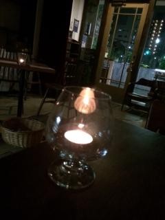 キャンドルの灯り