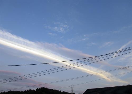 3日の夕方の雲