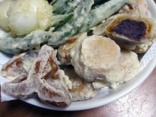 薄皮饅頭・ゆべし天ぷら
