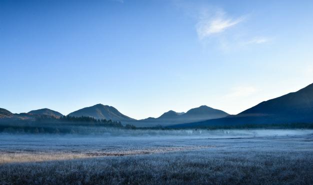 霜の降りた小田代ヶ原