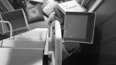 嫁入り道具の断捨離 座布団箱 (2)
