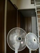 扇風機を洗って片付ける