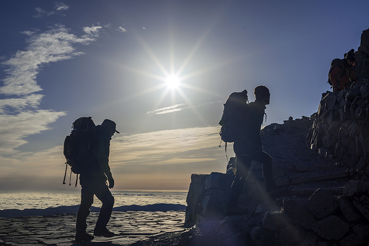 161007 太陽と登山者