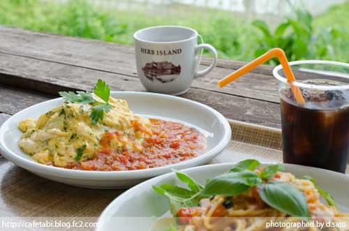 千葉県 大多喜町 ハーブガーデン ランチ サンドロップス 夏休み 旅行 自然 田舎 ハーブアイランド 料理 12
