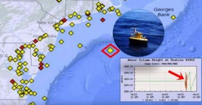北米東海岸上空で磁気圏崩壊?