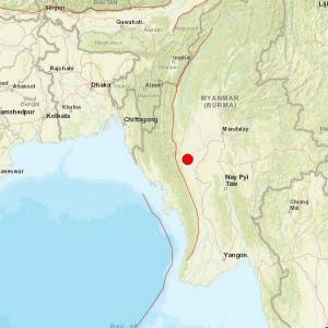 ミャンマー中部で地震