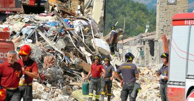 イタリア地震から1週間