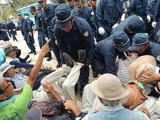 Cs9PqPGVMAAVjd-【高江】21日(水)のゲート前抗議行動の画像