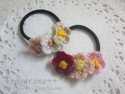 小花のヘアアクセサリー160525_3