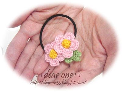 小花のヘアアクセサリー160610