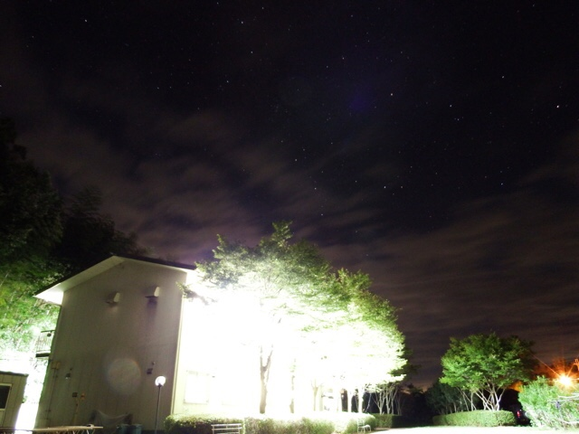 琵琶湖セミナーハウスの夜空