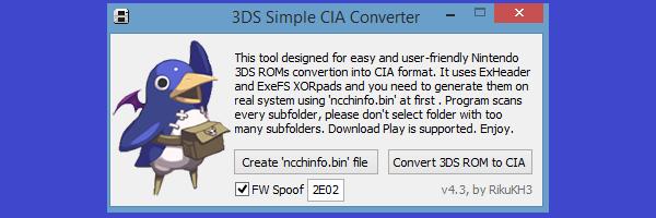 ○【CFWへの道!】第四段「Decrypt9WIP+3DS~CIA変換」の導入