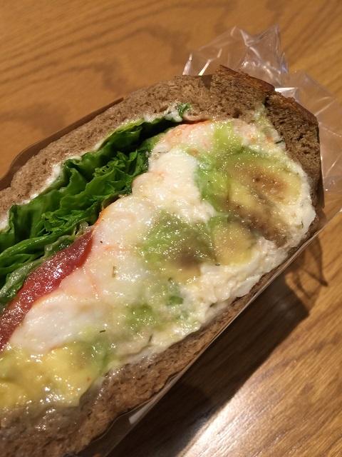 スターバックスコーヒージャパン アボカド&シュリンプサンドイッチ2