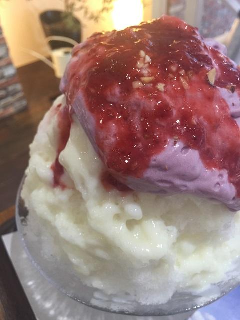 銀座のジンジャー 銀座本店 紫芋ミルクエスプーマと酒粕クリームとセンガセンガナ2
