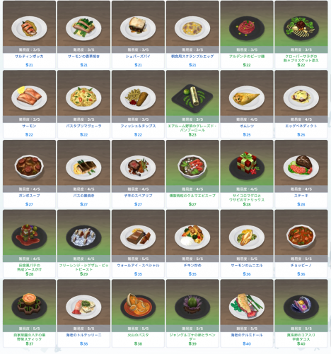 Sims 4 Dine Out_メイン料理_2-2