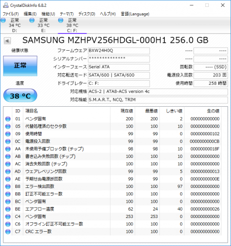 ENVY 750-180jp GTX970_CrystalDiskInfo_256GB SSD_01b