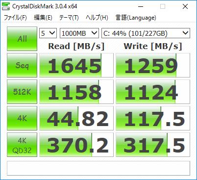 ENVY 750-180jp GTX970_CrystalDiskMark_256GB SSD_01