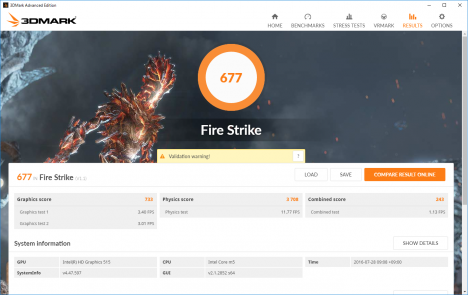 EliteBook Folio G1_Fire Strike_160727_01
