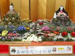 ④花に彩られた大人形 真田信之・小松姫