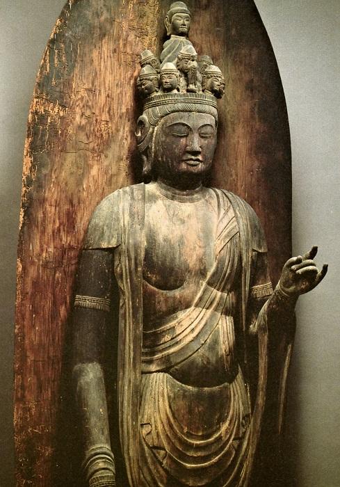 浄楽堂・十一面観音立像(「京の古仏~里にいきづくみ仏たち」掲載写真)