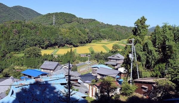 般若寺のある嵯峨樒原高見町の村落
