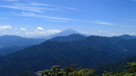 滝子山から見た富士山