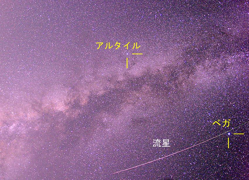 ペルセウス座流星群と天の川001